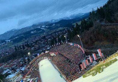Weltrekordversuch an der Schanze in Oberstdorf